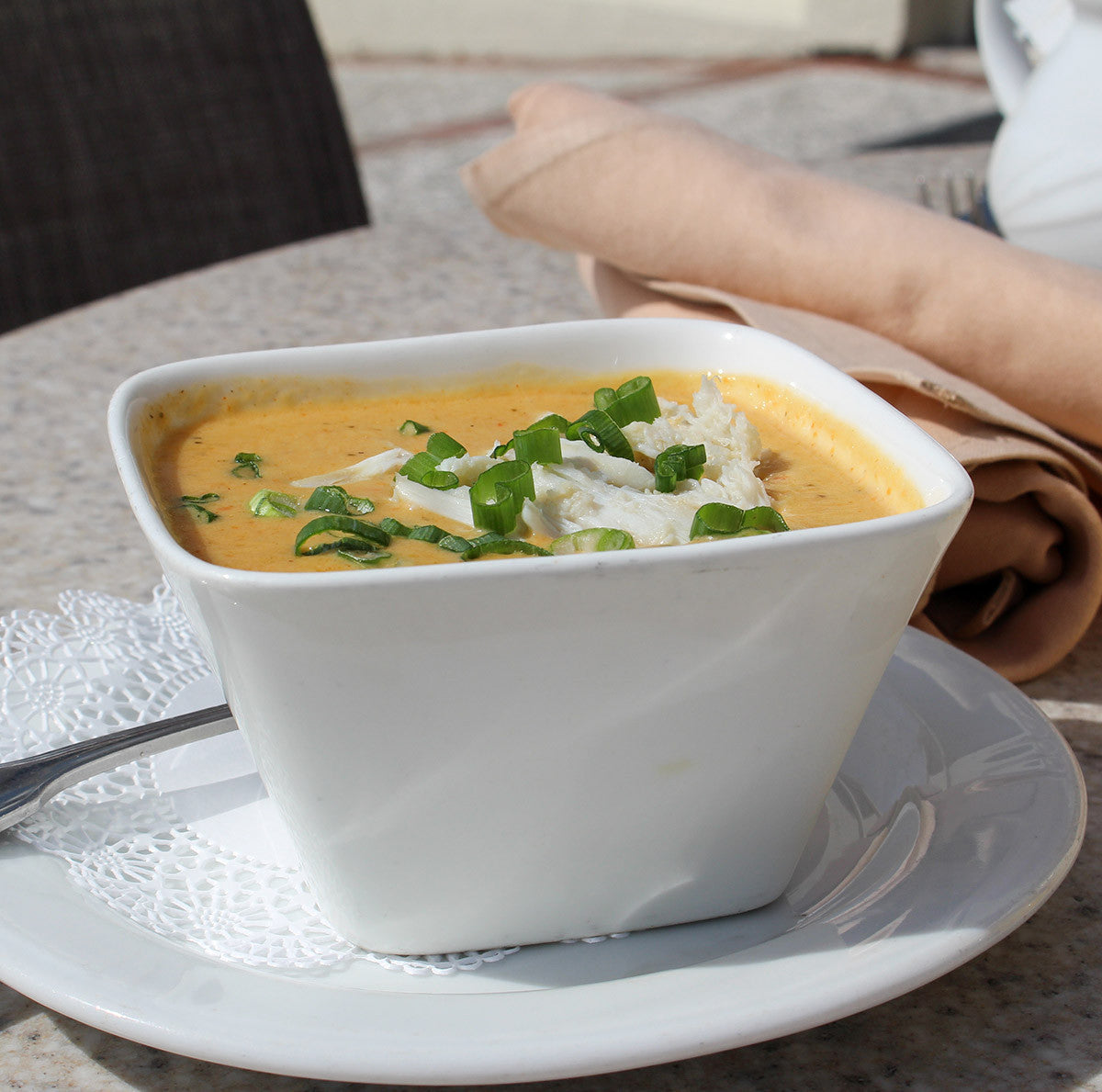 Crab Tomato-Basil Bisque Slow Simmered in Clay Recipe