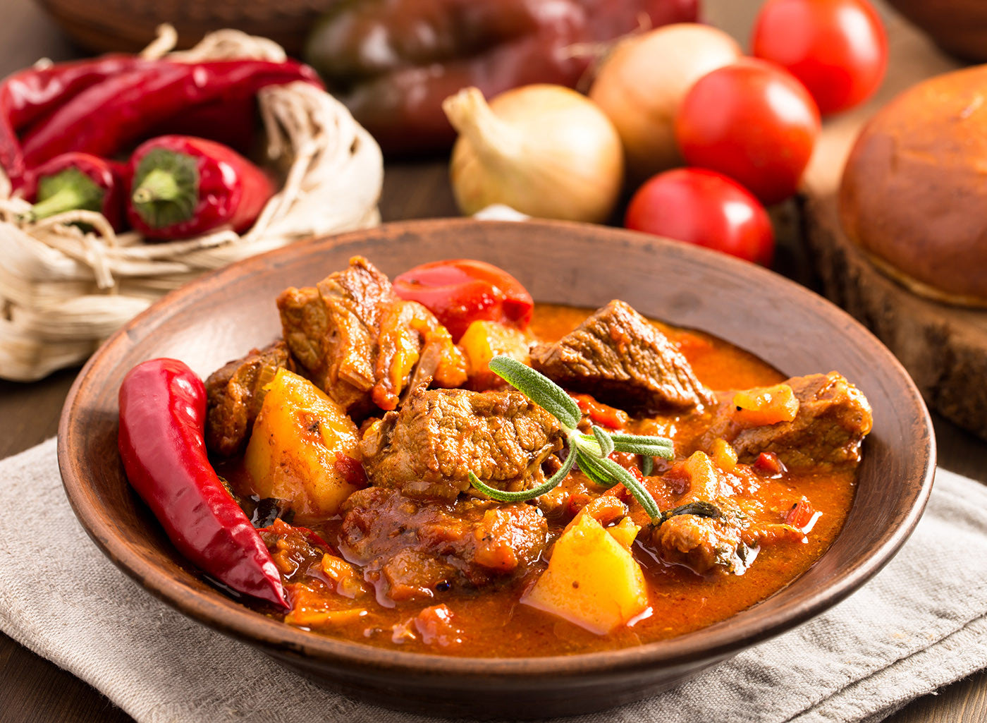 Clay Pot Slow Cooked Hungarian Goulash