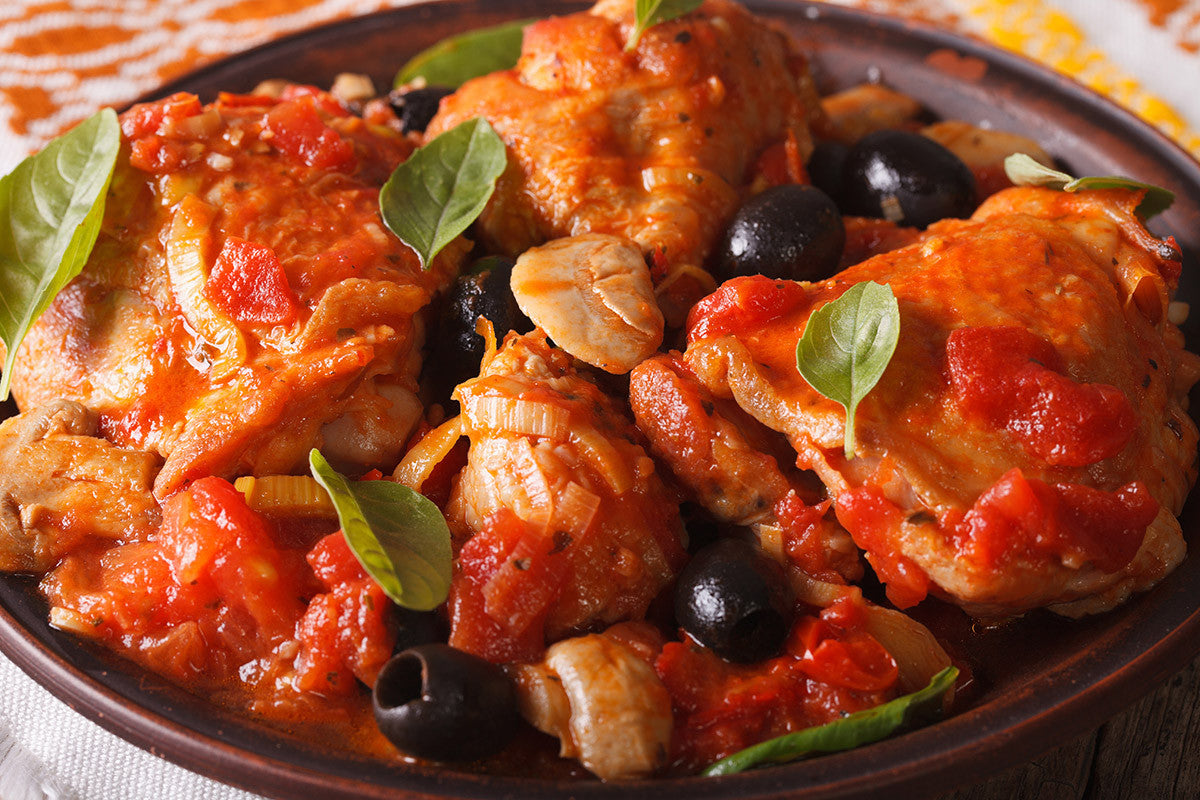 Spanish Tomato Chicken Slow Cooked in Clay