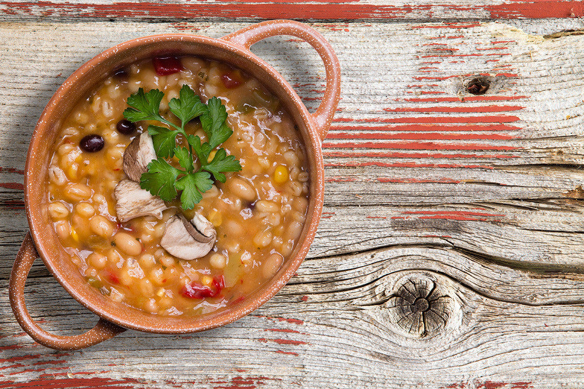 Slow Cooker Barley Vegetable Soup Recipe