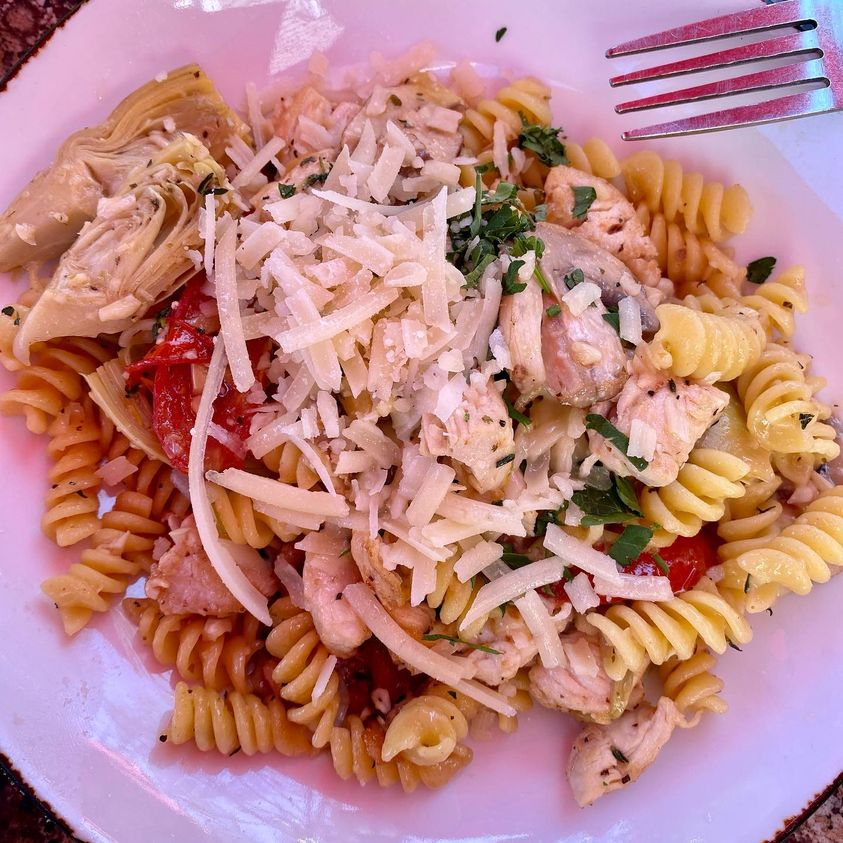 Artichoke Chicken & Fusilli Recipe in VitaClay Instant Crock Clay Pot
