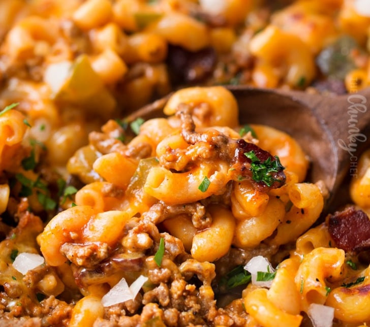 Cheeseburger Pasta Casserole: One Pot Meal Cooked in Clay!