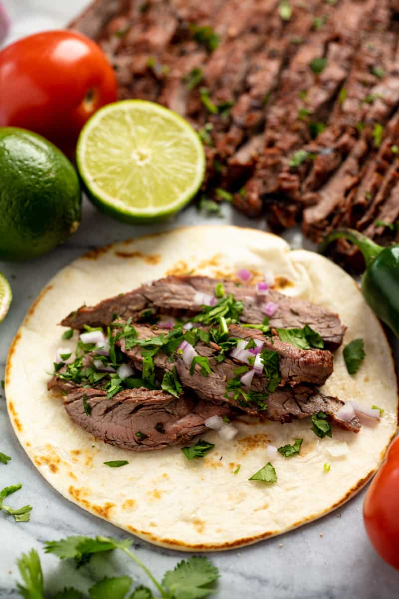 carne asada slow cooker taco meat