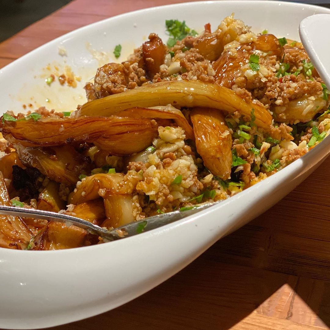 Slow cooker recipes: chinese spicy garlic eggplant cooked in under 30 minutes