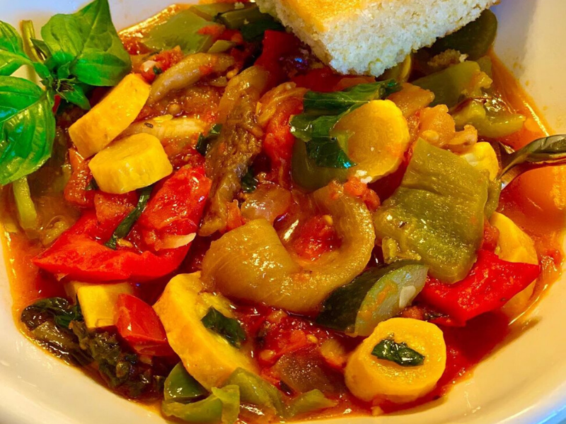 Classic French Ratatouille (rat-tuh-TOO-ee) made in VitaClay
