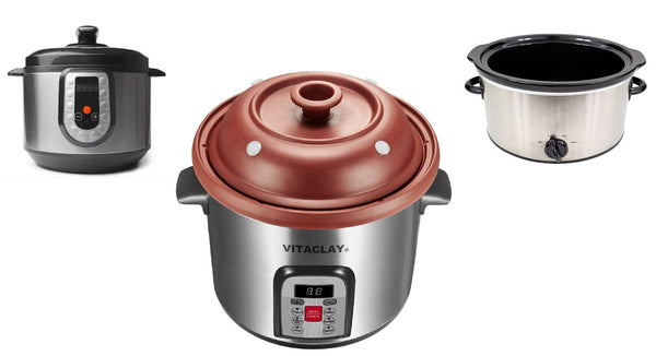 How is VITACLAY different from pressure cookers and conventional slow cookers? Part II