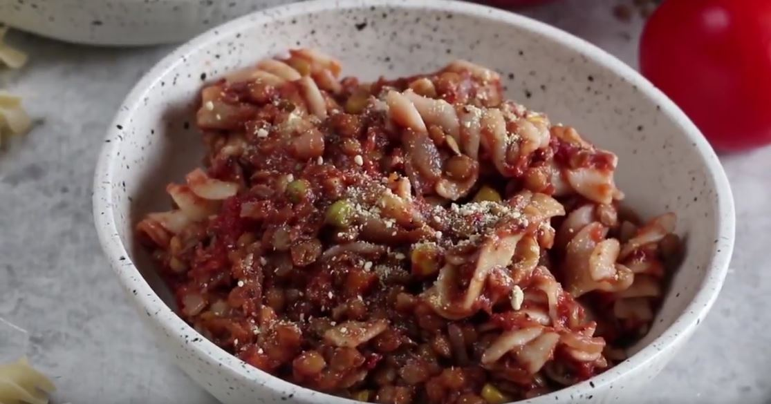 How To Cook Pasta and Lentils (Video Recipe)