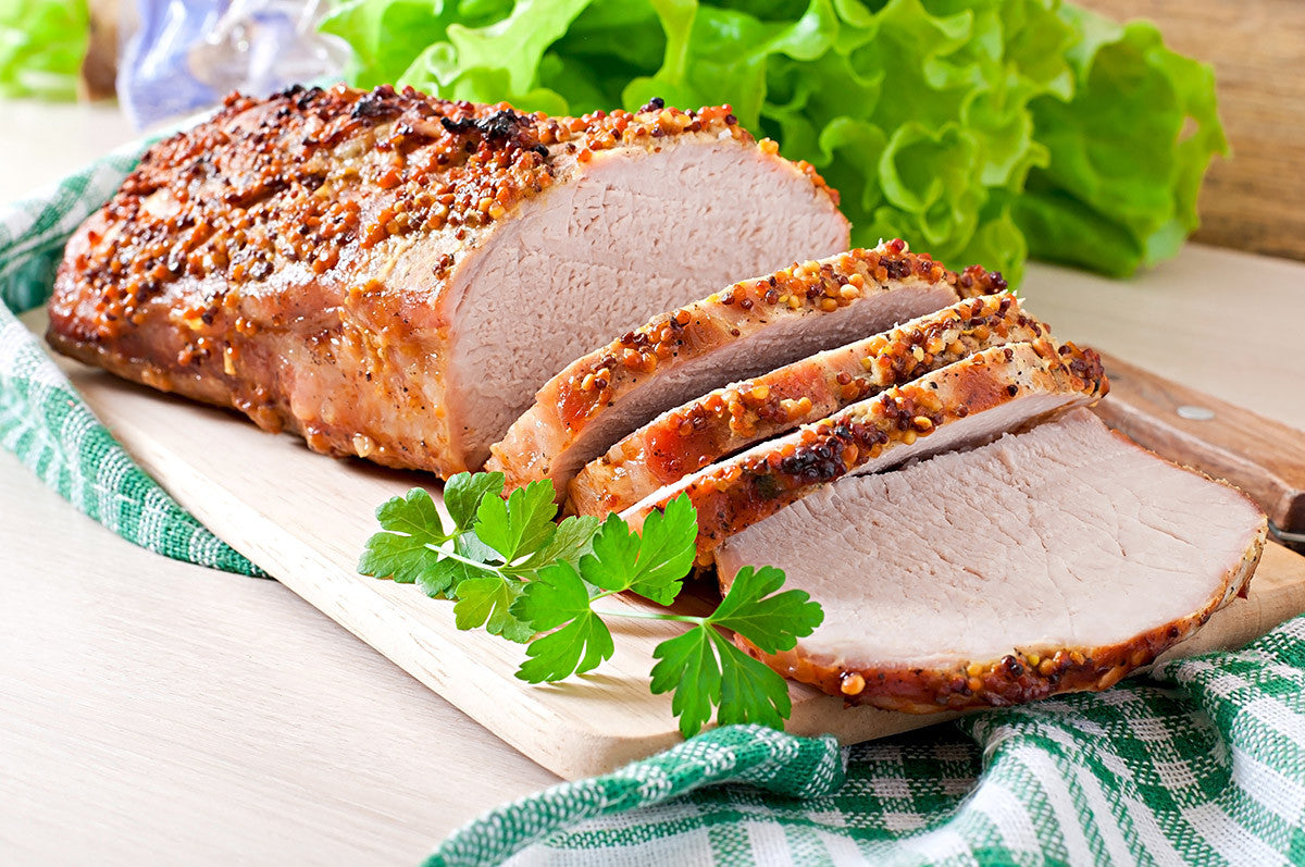 Slow Cooker Cranberry - Mustard Pork Loin Recipe