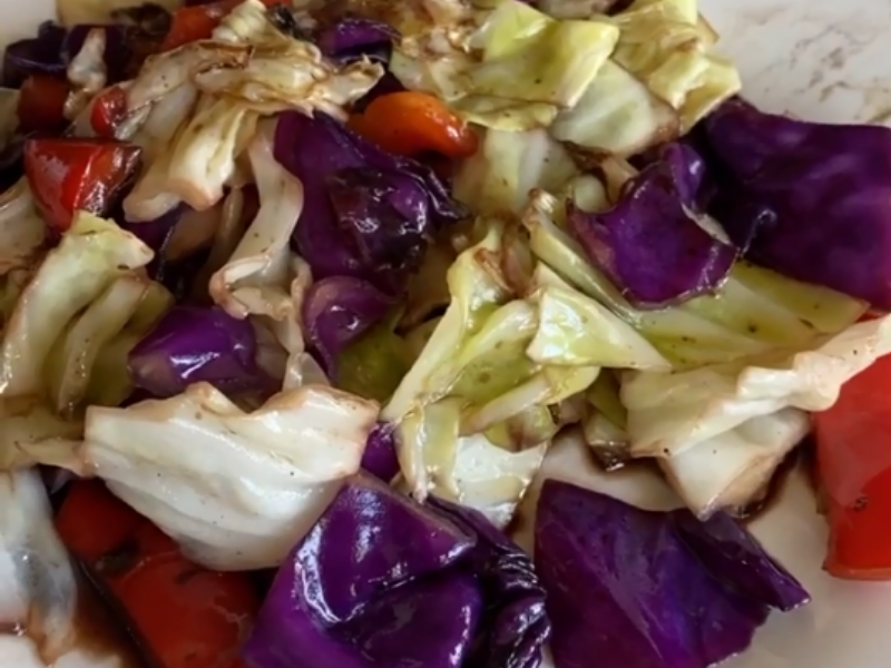 Yummy Pickled Cabbage Mix - Weekend's Vegetable Feast in just 10 Minutes