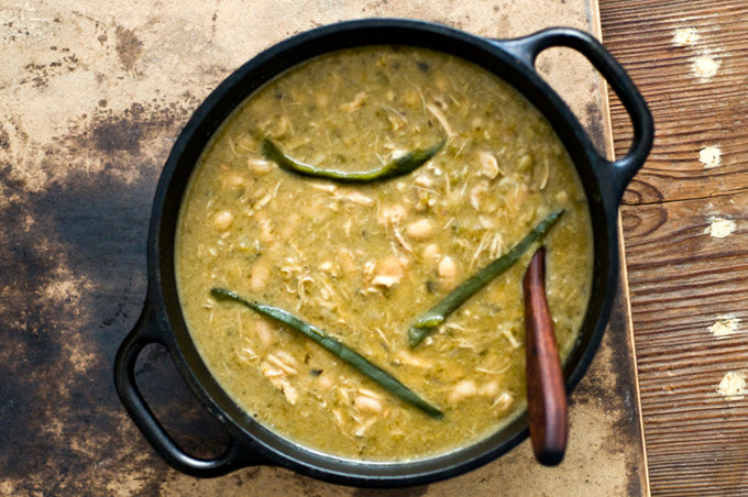 Poblano White Chicken Chili Cooked to Perfection in Clay!