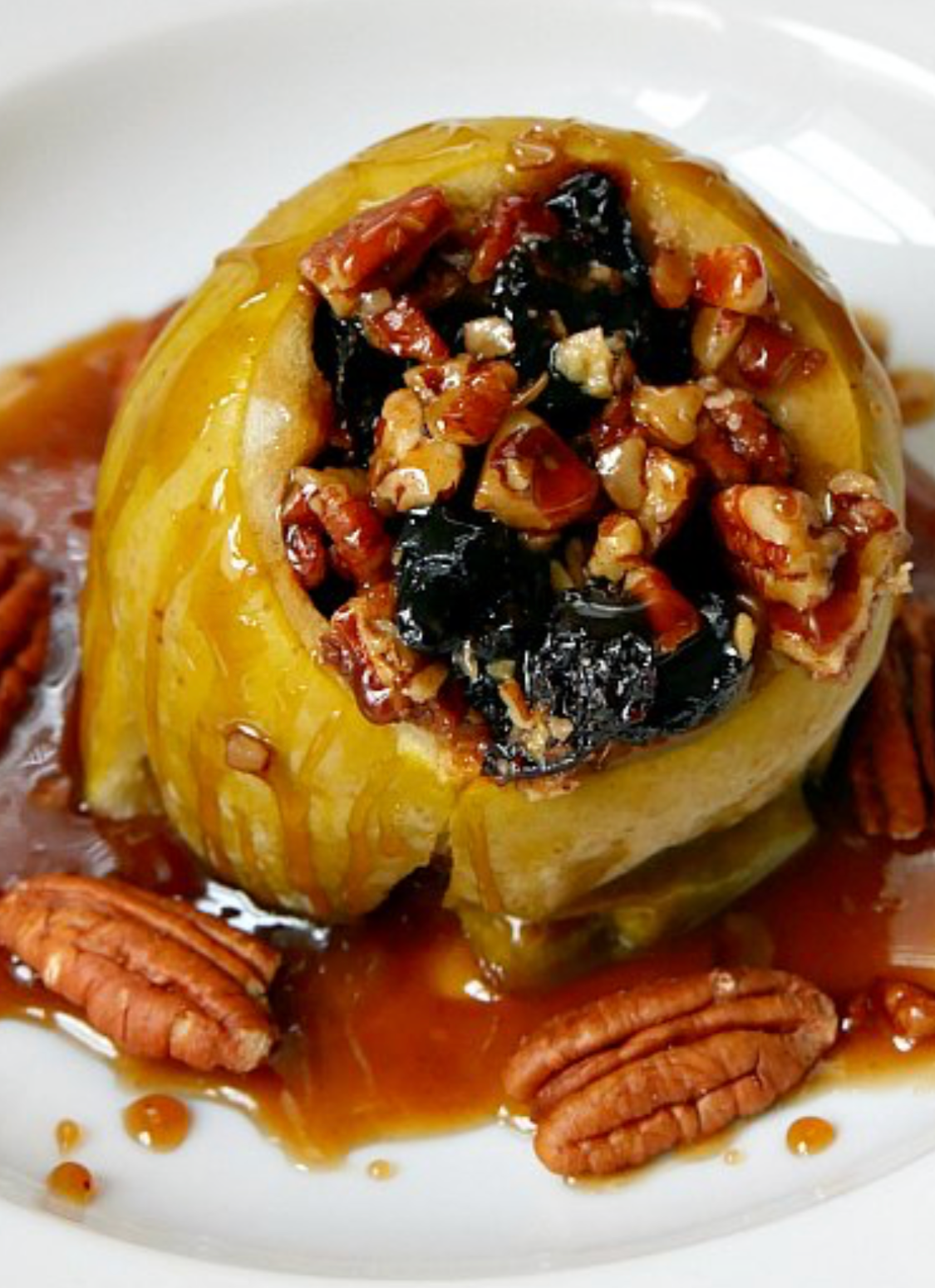 "Pecan Caramel Slow Cooker ""Baked"" Apple in Clay"