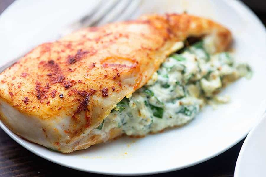 (LOW CARB) 30 MINUTES SPINACH STUFFED CHICKEN RECIPE WITH YOUR VITACLAY FAST SLOW COOKER