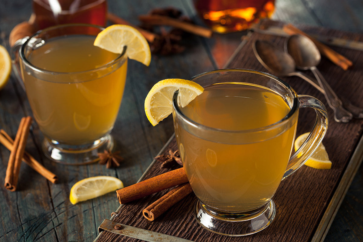 Slow Cooker Lemon Ginger Hot Toddy