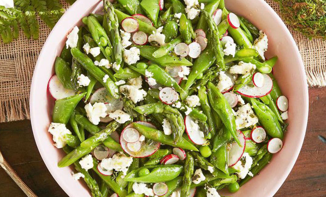Asparagus, Snap Pea, and Radish Salad