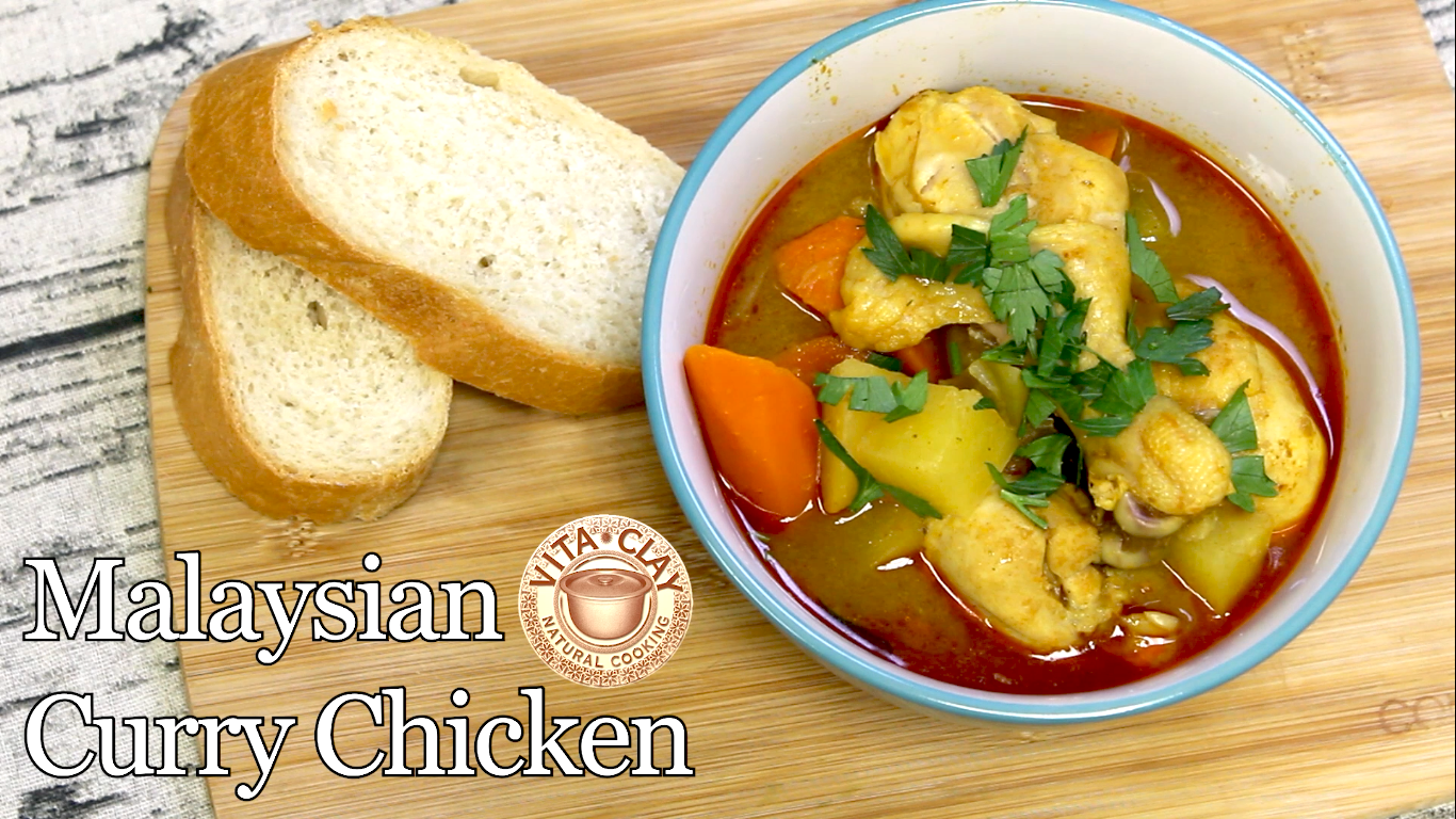 40 Minute Malaysian Curry Chicken Recipe in VitaClay Fast Slow Cooker (Video)
