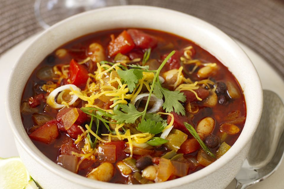 Thick, Creamy Two-Bean Vegetarian Chili
