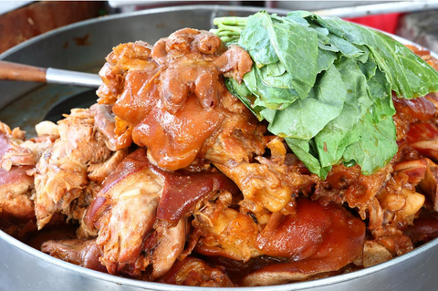 BROWN RICE PORK POT