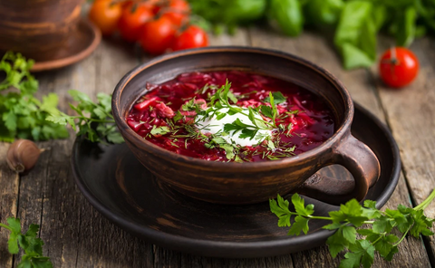 Traditional Borscht In Your Clay Pot
