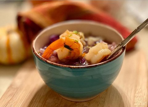 CABBAGE ONION SOUP WITH SHRIMP IN JUST 30 MINUTES
