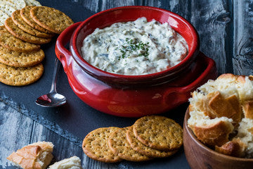 Hot Spinach Cheese Dip--Delicious and Healthy in Clay