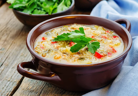 QUINOA AND CHICKEN SOUP