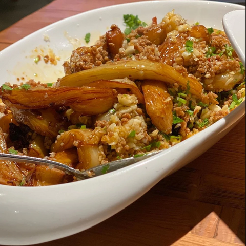 CHINESE SPICY GARLIC EGGPLANT