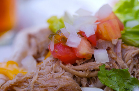 SPICY-SWEET PINEAPPLE SHREDDED CHICKEN