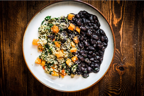 SPICY QUINOA BLACK BEAN VEGGIE SURPRISE