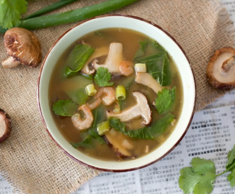ASIAN-INSPIRED MISO MUSHROOM SOUP