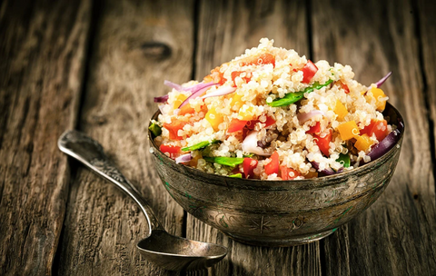 VEGETARIAN BLACK-BEAN AND TOMATO QUINOA