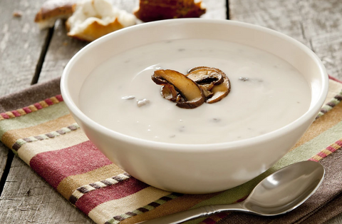 HOME-MADE CONDENSED CREAM OF MUSHROOM SOUP IN CLAY'S BEST SOUP-MAKER