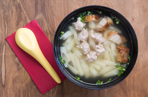 SHREDDED PORK NOODLE SOUP: QUICK, EASY, NOURISHING VITACLAY'S BEST SOUP COOKER RECIPE
