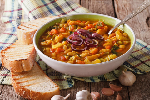 RIBOLLITA TUSCAN WINTER BEAN SOUP IN VITACLAY'S BEST FAST COOKER