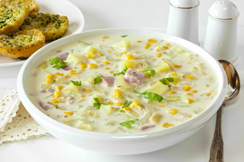 HAM AND POTATO CHOWDER IS QUICK AND EASY WITH VITACLAY