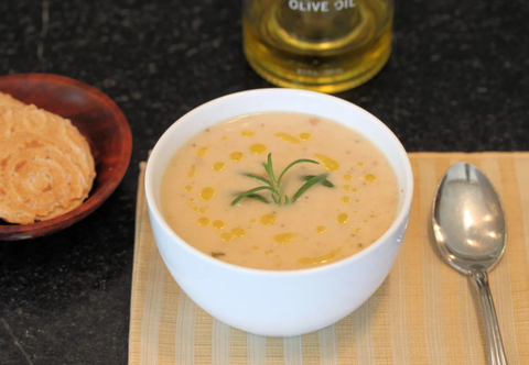 CREAMED WHITE BEAN BISQUE (VEGETARIAN AND VEGAN)