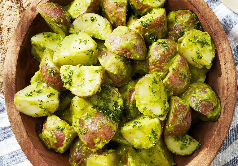 vitaclay chive potato salad