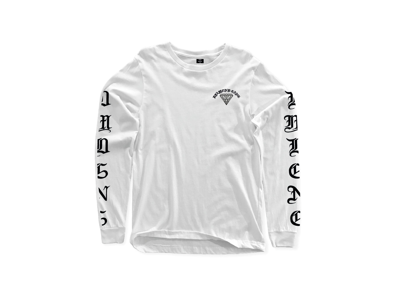 DIAMOND-GANG-INNER-CIRCLE-LONG-SLEEVE-TEE-WHITE