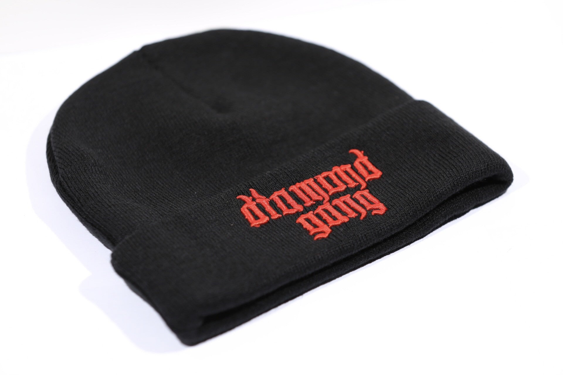 DIAMOND GANG BEANIE - BLACK & RED-Diamond Gang