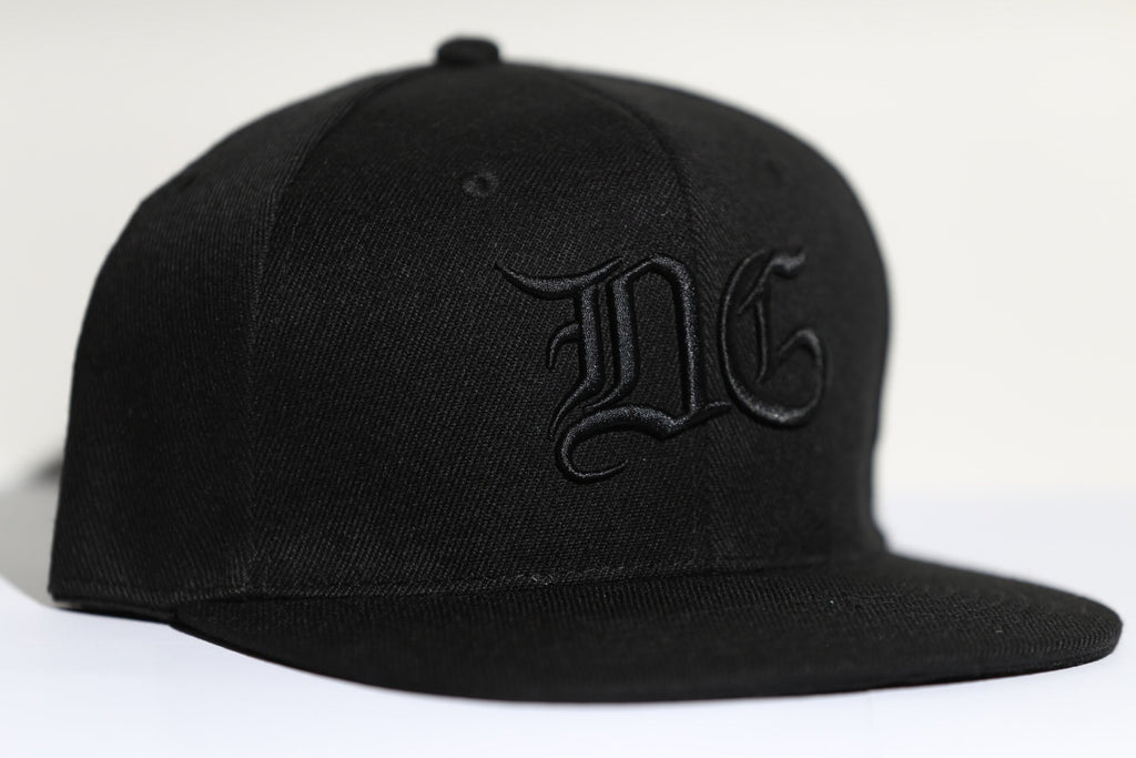 DG SNAPBACK - BLACK ON BLACK-Diamond Gang