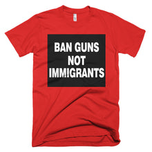 Ban Guns Not Immigrants protest t-shirt