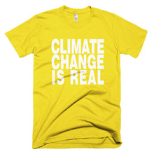 Climate Change is Real yellow protest t-shirt