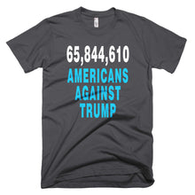 65,844,610 Americans Against Trump gray protest t-shirt