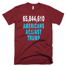 65,844,610 Americans Against Trump dark red protest t-shirt