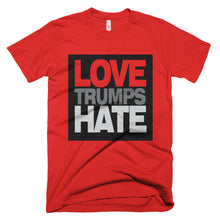 Love Trumps Hate red protest t-shirt
