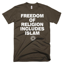 Freedom of Religion Includes Islam protest t-shirt