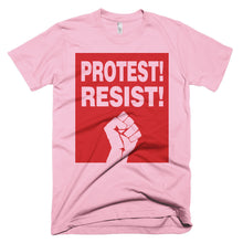 Protest! Resist! pink t-shirt