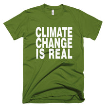 Climate Change is Real green protest t-shirt