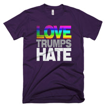 Rainbow Love Hates Trump protest t-shirt