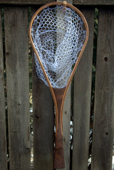 North Woods Custom Handmade Wood Landing Fishing Net - Dead Drift Net Company - Oak/Sapele/Walnut