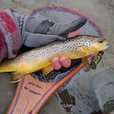 Driftless Custom Handmade Wood Landing Fishing Net - Dead Drift Net Company - Saple, Purpleheart, Brown Trout